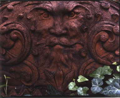 Unknown. <em>Pilaster Capital with Bearded Greenman, from an unidentified building on Worth Street, between Church and Broadway, NYC (demolished 1961)</em>, 1900. Terra cotta, 20 x 34 1/2 x 13 in. (50.8 x 87.6 x 33 cm). Brooklyn Museum, Gift of Anonymous Arts Recovery Society, 65.127.6. Creative Commons-BY (Photo: F Stop Fitzgerald, 65.127.6.jpg)