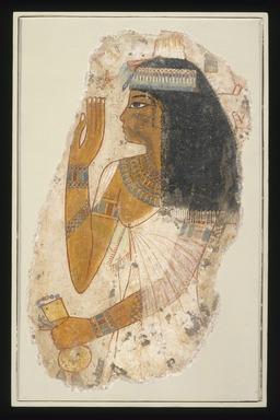 <em>Lady Tjepu</em>, ca. 1390-1353 B.C.E. Limestone, gesso, pigment, 14 13/16 x 9 7/16 in. (37.6 x 24 cm). Brooklyn Museum, Charles Edwin Wilbour Fund, 65.197 (Photo: Brooklyn Museum, 65.197_SL1.jpg)