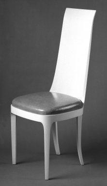 American. <em>Chair</em>, ca.1930. Wood, 43 1/2 x 18 x 17 in. (110.5 x 45.7 x 43.2 cm). Brooklyn Museum, Gift of Helen Kroll Kramer, 65.199.9. Creative Commons-BY (Photo: Brooklyn Museum, 65.199.9_bw.jpg)