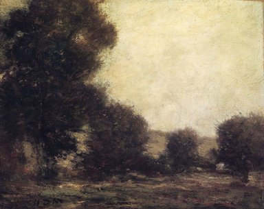 Homer Dodge Martin (American, 1836-1897). <em>Effect of Trees</em>, ca. 1879. Oil on canvas, 8 1/16 x 10 1/16 in. (20.5 x 25.6 cm). Brooklyn Museum, Gift of Daniel and Rita Fraad, Jr., 65.204.8 (Photo: Brooklyn Museum, 65.204.8.jpg)