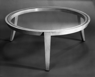 Hammond Kroll (American, 1899-1980). <em>Coffee Table</em>, ca. 1927-1939. Glass, wood, 14 1/8 x 36 in. (35.9 x 91.4 cm). Brooklyn Museum, Gift of Helen Kroll Kramer, 65.248. Creative Commons-BY (Photo: Brooklyn Museum, 65.248_bw_IMLS.jpg)
