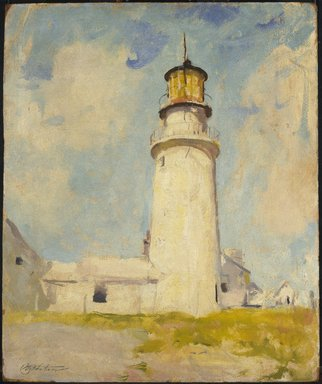 Charles W. Hawthorne (American, 1872-1930). <em>Highland Light</em>, ca. 1925. Oil on panel, 24 x 19 13/16 in. (60.9 x 50.3 cm). Brooklyn Museum, Gift of Mr. and Mrs. Raymond J. Horowitz, 65.253 (Photo: Brooklyn Museum, 65.253_Design_scan.jpg)