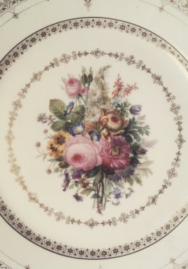 Sevres. <em>Plate</em>, ca. 1845-1846. Porcelain, 9 in. (22.9 cm). Brooklyn Museum, Anonymous gift, 66.177.10q. Creative Commons-BY (Photo: , 66.177.10a-s_pattern2.jpg)