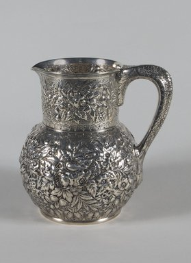 American. <em>Pitcher</em>, ca. 1879. Silver, 8 1/2 x 6 1/2 x 6 1/2 in. (21.6 x 16.5 x 16.5 cm). Brooklyn Museum, Anonymous gift, 66.177.31. Creative Commons-BY (Photo: Brooklyn Museum, 66.177.31_PS5.jpg)