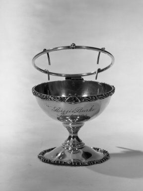 American. <em>Orange Cup</em>, ca. 1894. Silver, 3 x 3 3/8 x 3 3/8 in. (7.6 x 8.6 x 8.6 cm). Brooklyn Museum, Gift of Dorothy M. Schluter, 66.179.1. Creative Commons-BY (Photo: Brooklyn Museum, 66.179.1_acetate_bw.jpg)