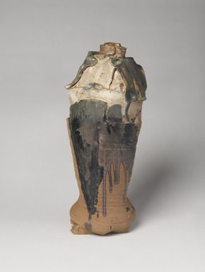 Jolyon Hofsted (American, October 21, 1942-October 12, 2004). <em>Vase</em>, 1965. Stoneware, polychrome glaze, 19 in. (48.3 cm). Brooklyn Museum, H. Randolph Lever Fund, 66.183. Creative Commons-BY (Photo: , 66.183_PS9.jpg)