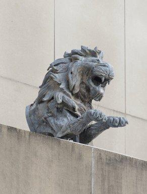 Hugo Haase (German, 1857-1933). <em>Lion, from the El Dorado Carousel, Coney Island, Brooklyn</em>, ca. 1902. Zinc sheeting, Mounted: 82 x 36 x 69 in. (208.3 x 91.4 x 175.3 cm). Brooklyn Museum, Gift of Frederick Fried, 66.251.1. Creative Commons-BY (Photo: Brooklyn Museum, 66.251.1_PS11.jpg)