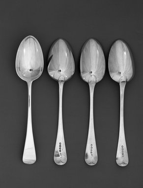 William Chawner (English, 1772-1828). <em>Soup Spoon</em>, ca. 1825. Silver, 8 3/4 in. (22.2 cm). Brooklyn Museum, H. Randolph Lever Fund, 66.32.3. Creative Commons-BY (Photo: , 66.32.5_66.32.3_66.32.10_66.32.12_acetate_bw.jpg)