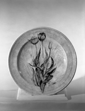 Henry Varnum Poor (American, 1887-1970). <em>Plate</em>, ca. 1925. Glazed red earthenware, 1 3/4 x 13 in. (4.4 x 33 cm). Brooklyn Museum, H. Randolph Lever Fund, 66.73.8. Creative Commons-BY (Photo: Brooklyn Museum, 66.73.8_acetate_bw.jpg)