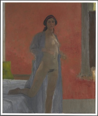 Lennart Anderson (American, 1928-2015). <em>Nude</em>, 1961-1964. Oil on canvas, with frame: 58 1/2 x 50 in. (148.6 x 127 cm). Brooklyn Museum, John B. Woodward Memorial Fund, 66.84. © artist or artist's estate (Photo: Brooklyn Museum, 66.84_PS9.jpg)