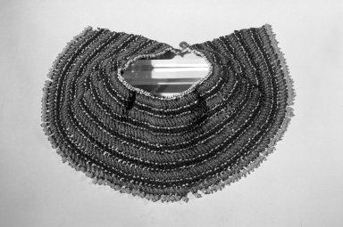 Xhosa (Thembu subgroup). <em>Collar (Ingqosha)</em>, early 20th century. Glass seed beads, sinew, Lower curve length: 27 x 5 in. (68.6 x 12.7 cm). Brooklyn Museum, Gift of Mr. and Mrs. Jerome Blum, 66.86.14. Creative Commons-BY (Photo: Brooklyn Museum, 66.86.14_acetate_bw.jpg)