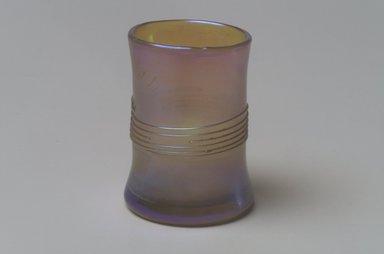 Tiffany Studios (1902-1932). <em>Shot Glass</em>, ca. 1896-1900. Opalescent glass, 1 9/16 x 1 1/8 x 1 1/8 in. (4 x 2.9 x 2.9 cm). Brooklyn Museum, Bequest of Laura L. Barnes, 67.120.105. Creative Commons-BY (Photo: Brooklyn Museum, 67.120.105.jpg)