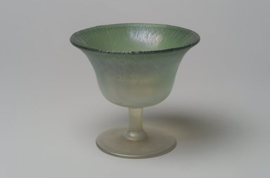 Tiffany Studios (1902-1932). <em>Fruit Cup</em>, ca. 1896-1919. Opalescent glass, 3 3/4 x 4 1/8 x 4 1/8 in. (9.5 x 10.5 x 10.5 cm). Brooklyn Museum, Bequest of Laura L. Barnes, 67.120.113. Creative Commons-BY (Photo: Brooklyn Museum, 67.120.113.jpg)
