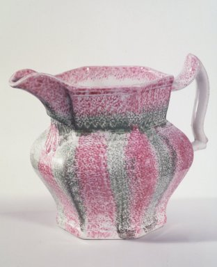 <em>Cream Pitcher</em>, ca. 1850. Spatterware, 4 1/8 x 4 in. (10.5 x 10.2 cm). Brooklyn Museum, Bequest of Laura L. Barnes, 67.120.191. Creative Commons-BY (Photo: Brooklyn Museum, 67.120.191.jpg)