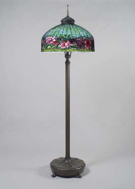 Attributed to Tiffany Studios (1902-1932). <em>Lamp</em>, ca. 1910. Bronze, glass, lead, Height:  80 1/2 in. (204.5 cm). Brooklyn Museum, Bequest of Laura L. Barnes, 67.120.49a-b. Creative Commons-BY (Photo: Brooklyn Museum, 67.120.49a-b.jpg)