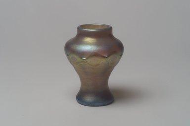 Tiffany Studios (1902-1932). <em>Vase</em>, ca. 1896-1919. Opalescent glass, 3 3/8 x 2 1/2 x 2 1/2 in. (8.6 x 6.4 x 6.4 cm). Brooklyn Museum, Bequest of Laura L. Barnes, 67.120.66. Creative Commons-BY (Photo: Brooklyn Museum, 67.120.66.jpg)