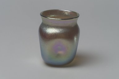 Tiffany Studios (1902-1932). <em>Jar</em>, ca. 1901-1905. Opalescent glass, 1 7/8 x 1 7/16 x 1 7/16 in. (4.8 x 3.7 x 3.7 cm). Brooklyn Museum, Bequest of Laura L. Barnes, 67.120.76. Creative Commons-BY (Photo: Brooklyn Museum, 67.120.76.jpg)