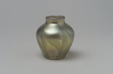 Tiffany Studios (1902-1932). <em>Vase</em>, 1901-1905. Opalescent glass, 2 1/4 x 2 1/16 x 2 1/16 in. (5.7 x 5.2 x 5.2 cm). Brooklyn Museum, Bequest of Laura L. Barnes, 67.120.80. Creative Commons-BY (Photo: Brooklyn Museum, 67.120.80.jpg)