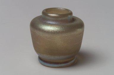 Tiffany Studios (1902-1932). <em>Vase</em>, ca. 1900-1920. Opalescent glass, 1 1/2 x 1 9/16 x 1 9/16 in. (3.8 x 4 x 4 cm). Brooklyn Museum, Bequest of Laura L. Barnes, 67.120.97. Creative Commons-BY (Photo: Brooklyn Museum, 67.120.97.jpg)