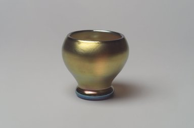 American. <em>Vase</em>, 1900-1920. Opalescent glass, 2 1/2 x 2 3/4 x 2 3/4 in. (6.4 x 7 x 7 cm). Brooklyn Museum, Bequest of Laura L. Barnes, 67.120.98. Creative Commons-BY (Photo: Brooklyn Museum, 67.120.98.jpg)