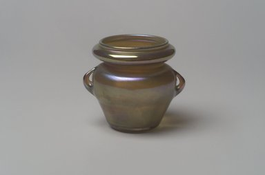 Tiffany Studios (1902-1932). <em>Vase</em>, 1906-1912. Opalescent glass, 2 3/4 x 2 1/2 x 2 1/2 in. (7 x 6.4 x 6.4 cm). Brooklyn Museum, Bequest of Laura L. Barnes, 67.120.99. Creative Commons-BY (Photo: Brooklyn Museum, 67.120.99.jpg)
