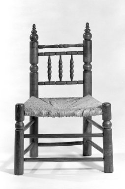 American. <em>Chair</em>, ca.1700. Maple, 29 7/8 x 20 3/4 x 15 in. (75.9 x 52.7 x 38.1 cm). Brooklyn Museum, Gift of Mr. and Mrs. Samuel Schwartz, 67.126.3. Creative Commons-BY (Photo: Brooklyn Museum, 67.126.3_bw.jpg)