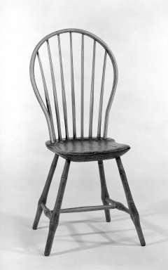 <em>Windsor Chairs</em>, ca. 1775. Pine, hickory, and ash, 37 x 17 1/2 x 18 1/2 in. (94 x 44.5 x 47 cm). Brooklyn Museum, Gift of Mr. and Mrs. Henry Sherman, 67.128.12a-b. Creative Commons-BY (Photo: Brooklyn Museum, 67.128.12a_bw.jpg)