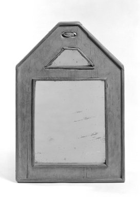 <em>Courting Mirror</em>, ca.1760. Glass, pine, 13 1/8 x 9 x 1 in. (33.3 x 22.9 x 2.5 cm). Brooklyn Museum, Gift of Mr. and Mrs. Henry Sherman, 67.128.19. Creative Commons-BY (Photo: Brooklyn Museum, 67.128.19_bw.jpg)