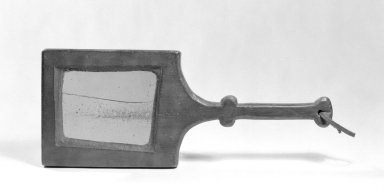 American. <em>Hand Mirror</em>, ca. 1760. Pine, Other: 13 x 5 1/4 x 3/4 in. (33 x 13.3 x 1.9 cm). Brooklyn Museum, Gift of Mr. and Mrs. Henry Sherman, 67.128.20. Creative Commons-BY (Photo: Brooklyn Museum, 67.128.20_bw.jpg)