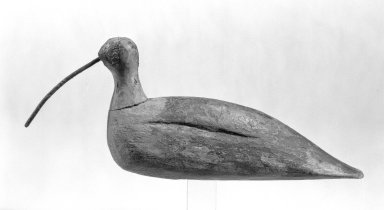 <em>Decoy</em>, ca. 1800. Pine, Other ((bird only)): 5 x 2 x 12 in. (12.7 x 5.1 x 30.5 cm). Brooklyn Museum, Gift of Mr. and Mrs. Henry Sherman, 67.128.22. Creative Commons-BY (Photo: Brooklyn Museum, 67.128.22_bw.jpg)