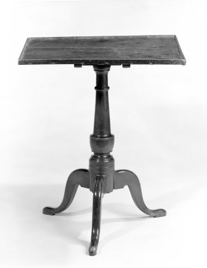 American. <em>Table</em>, ca. 1760. Pine, maple, 28 x 23 3/4 x 20 1/4 in. (71.1 x 60.3 x 51.4 cm). Brooklyn Museum, Gift of Mr. and Mrs. Henry Sherman, 67.128.5. Creative Commons-BY (Photo: Brooklyn Museum, 67.128.5_bw.jpg)