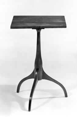<em>Stand</em>, ca. 1830. Maple, 26 x 17 1/2 x 17 1/2 in. (66 x 44.5 x 44.5 cm). Brooklyn Museum, Gift of Mr. and Mrs. Henry Sherman, 67.128.6. Creative Commons-BY (Photo: Brooklyn Museum, 67.128.6_bw.jpg)