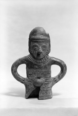 <em>Figurine</em>. Ceramic Brooklyn Museum, Gift of the Estate of Susan D. Bliss, 67.136. Creative Commons-BY (Photo: Brooklyn Museum, 67.136_bw.jpg)