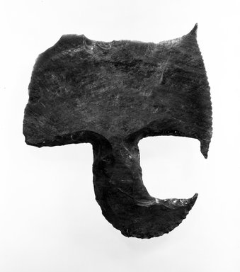<em>Ceremonial Axe</em>. Obsidian flake, 8 1/4 x 7 1/2 in. (21 x 19 cm). Brooklyn Museum, Frederick Loeser Fund, 67.139.2. Creative Commons-BY (Photo: Brooklyn Museum, 67.139.2_bw.jpg)
