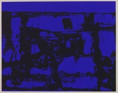 John Urbain (American, born Belgium, 1920-2009). <em>Blue Night, 1966</em>, 1966. Serigraph on paper, 22 x 28 in. (55.9 x 71.1 cm). Brooklyn Museum, Gift of Philip Morris, Inc., 67.145.1. © artist or artist's estate (Photo: Brooklyn Museum, 67.145.1_PS9.jpg)