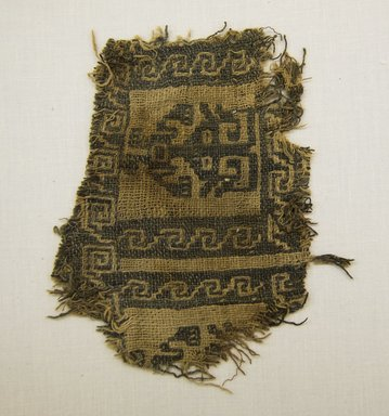 Chancay. <em>Textile Fragment, undetermined</em>, 1000-1532. Cotton, 5 1/2 x 6 1/8 in. (14 x 15.5 cm). Brooklyn Museum, Gift of Adelaide Goan, 67.159.21. Creative Commons-BY (Photo: Brooklyn Museum, 67.159.21_front_PS5.jpg)