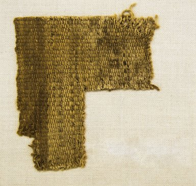 <em>Textile Fragment, undetermined</em>, 1532-1700 or 1000-1400. Cotton, 4 1/8 x 4 7/16 in. (10.5 x 11.3 cm). Brooklyn Museum, Gift of Adelaide Goan, 67.159.36. Creative Commons-BY (Photo: Brooklyn Museum, 67.159.36_front_PS5.jpg)