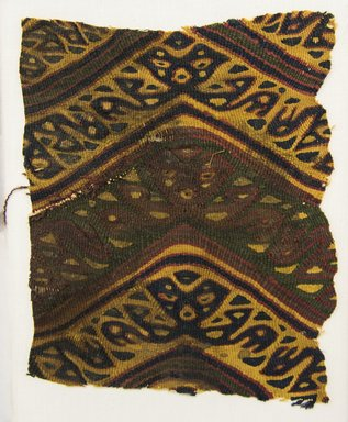 Possibly Ica. <em>Textile Fragment, undetermined</em>, 1400-1700. Cotton?, camelid fiber?, 7 1/16 x 8 7/8 in. (17.9 x 22.5 cm). Brooklyn Museum, Gift of Adelaide Goan, 67.159.45. Creative Commons-BY (Photo: Brooklyn Museum, 67.159.45_front_PS5.jpg)
