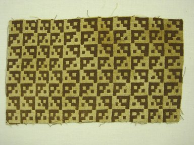 Chancay (Attributed by Nobuko Kajitani, 1993). <em>Textile Fragment, undetermined</em>, 1000-1532. Cotton, 4 5/16 x 7 5/16 in. (11 x 18.6 cm). Brooklyn Museum, Gift of Adelaide Goan, 67.159.47. Creative Commons-BY (Photo: Brooklyn Museum, 67.159.47.jpg)