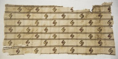 Chancay (attributed by Nobuko Kajatani, 1993). <em>Textile Fragment, undetermined</em>, 1000-1532. Cotton, camelid fiber, (49.0 x 24.0 cm). Brooklyn Museum, Gift of Adelaide Goan, 67.159.56. Creative Commons-BY (Photo: Brooklyn Museum, 67.159.56_front_PS5.jpg)