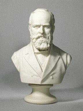 American. <em>Bust</em>, ca.1880. Parian ware, 11 3/4 x 4 3/4 in. (29.8 x 12.1 cm). Brooklyn Museum, H. Randolph Lever Fund, 67.17. Creative Commons-BY (Photo: Brooklyn Museum, 67.17_SL1.jpg)