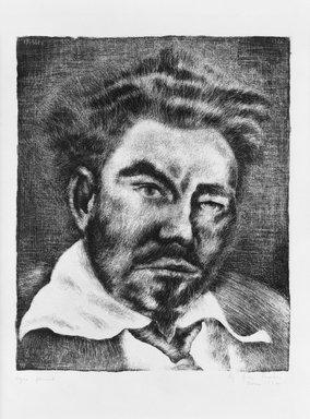 George Biddle (American, 1885-1973). <em>Ezra Pound</em>, 1932. Lithograph, 10 1/2 x 8 5/8 in. (26.7 x 21.9 cm). Brooklyn Museum, Gift of George Biddle, 67.185.26. © artist or artist's estate (Photo: Brooklyn Museum, 67.185.26_bw.jpg)