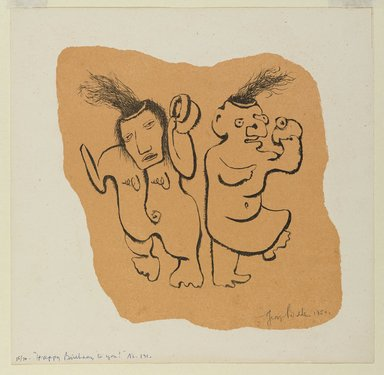 George Biddle (American, 1885-1973). <em>Happy Birthday To You</em>, 1952. Lithograph, 8 x 8 in. (20.3 x 20.3 cm). Brooklyn Museum, Gift of George Biddle, 67.185.47. © artist or artist's estate (Photo: Brooklyn Museum, 67.185.47.jpg)
