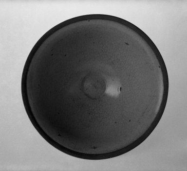 <em>Brownish Plate</em>. Ceramic, 3 x 6 5/8 in. (7.6 x 16.8 cm). Brooklyn Museum, Gift of Paul E. Manheim, 67.199.22. Creative Commons-BY (Photo: Brooklyn Museum, 67.199.22_bw.jpg)