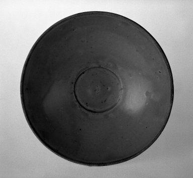 <em>Small Bowl</em>, 960-1368. Porcellaneous stoneware, celadon glaze, 1 3/4 x 5 13/16 in. (4.5 x 14.7 cm). Brooklyn Museum, Gift of Paul E. Manheim, 67.199.27. Creative Commons-BY (Photo: Brooklyn Museum, 67.199.27_bw.jpg)