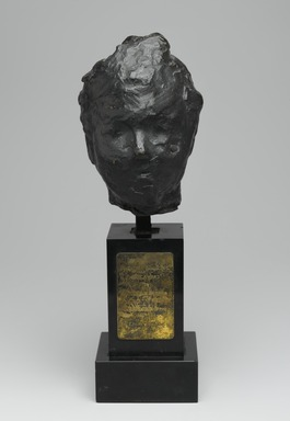 Edgar Degas (French, 1834-1917). <em>Head, Study for the Portrait of Mme S. (Tête, première étude pour le portrait de Madame S.</em>, modeled ca. 1892, cast 1919-1932. Bronze, Head: 5 1/2 in. (13.9 cm). Brooklyn Museum, Gift of Abraham & Straus, 67.203. Creative Commons-BY (Photo: Brooklyn Museum, 67.203_PS2.jpg)
