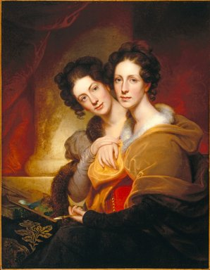 Rembrandt Peale (American, 1778-1860). <em>The Sisters (Eleanor and Rosalba Peale)</em>, 1826. Oil on canvas, 42 1/8 x 32 11/16 in. (107 x 83 cm). Brooklyn Museum, A. Augustus Healy Fund, 67.205.3 (Photo: Brooklyn Museum, 67.205.3_SL1.jpg)