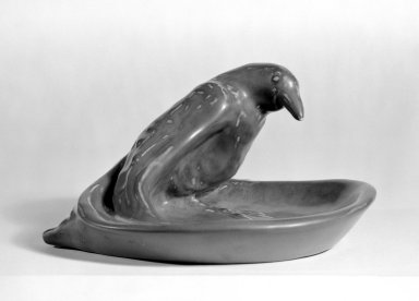 Rookwood Pottery Company (1880-1967). <em>Ashtray</em>. Glazed earthenware Brooklyn Museum, H. Randolph Lever Fund, 67.21.1. Creative Commons-BY (Photo: Brooklyn Museum, 67.21.1_bw.jpg)
