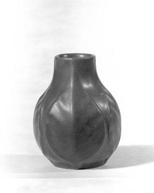Artus van Briggle (American, 1869-1904). <em>Vase</em>, ca. 1910. Glazed earthenware, 4 1/2 x 3 1/2 in. (11.4 x 8.9 cm). Brooklyn Museum, H. Randolph Lever Fund, 67.21.2. Creative Commons-BY (Photo: Brooklyn Museum, 67.21.2_bw.jpg)