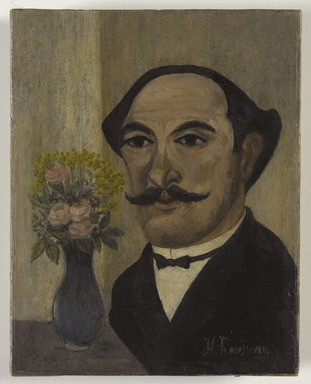 Henri Rousseau (le Douanier) (French, 1844-1910). <em>Self-Portrait</em>, ca. 1900-1903. Oil on canvas, 7 3/8 x 5 3/4in. (18.7 x 14.6cm). Brooklyn Museum, Bequest of Laura L. Barnes, 67.24.14 (Photo: Brooklyn Museum, 67.24.14_PS9.jpg)